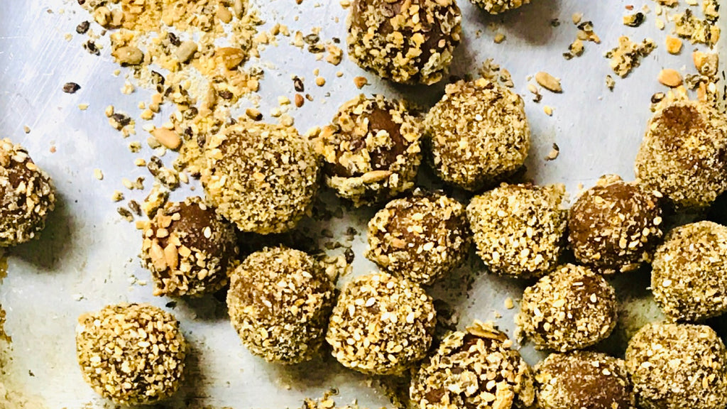 Chocolate Truffles with Cult Crackers Crumbles