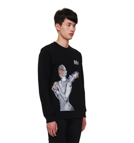 88SORAYAMA ROBOT EMBROIDERED AR LONG SLEEVE CREW
