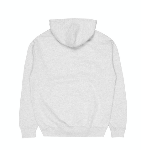 EMBROIDERED LOGO GREY FLEECE HOODIE