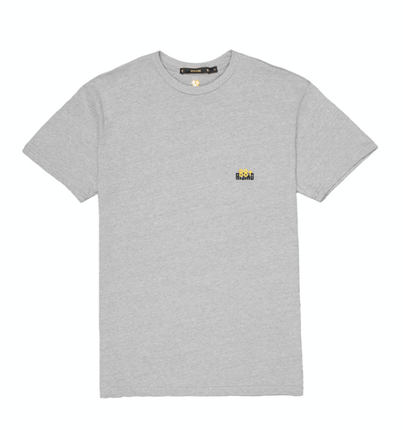 EMBROIDERED LOGO GREY CREWNECK TEE