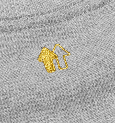 EMBROIDERED LOGO GREY CREWNECK TEE 88RISING