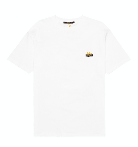 EMBROIDERED LOGO WHITE CREWNECK