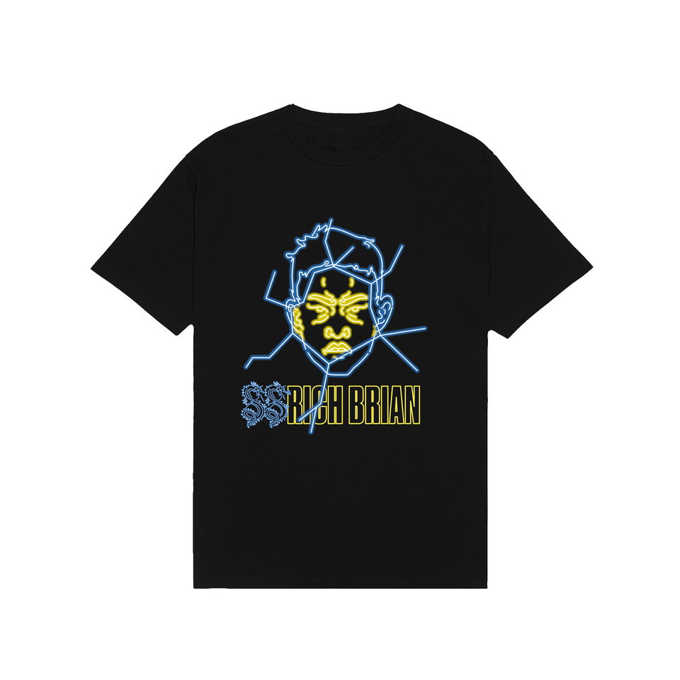 YELLOW GLASS TEE IN BLACK  + DIGITAL ALBUM