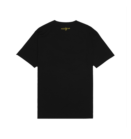YELLOW SKETCH TEE IN BLACK