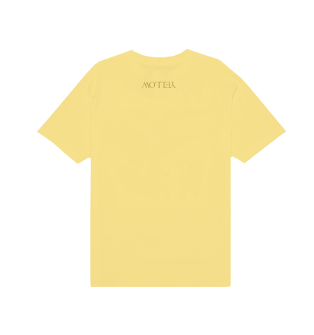 YELLOW COVER ART TEE IN PASTEL YELLOW