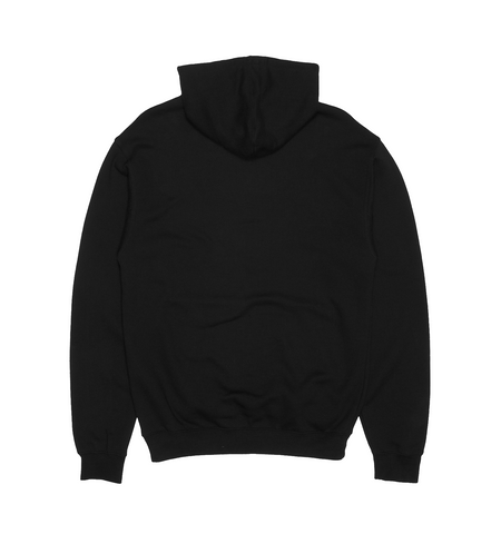 YELLOW SKETCH HOODIE IN BLACK