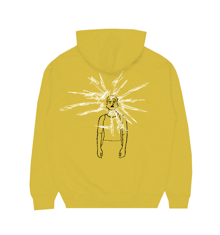YELLOW SKETCH LYRICS HOODIE IN YELLOW