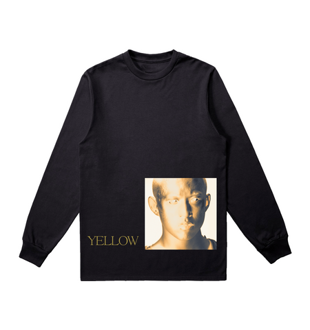YELLOW COVER ART LONG SLEEVE IN BLACK
