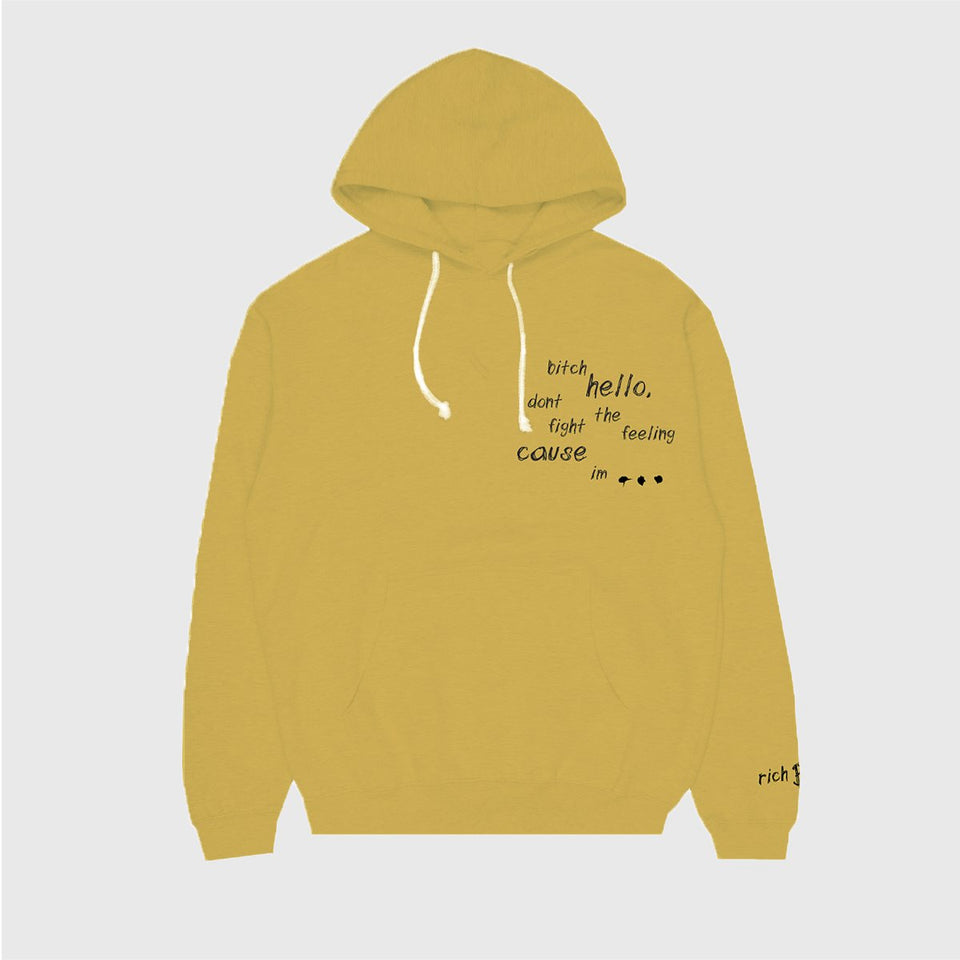 YELLOW SKETCH LYRICS HOODIE IN YELLOW + DIGITAL ALBUM 88RISING