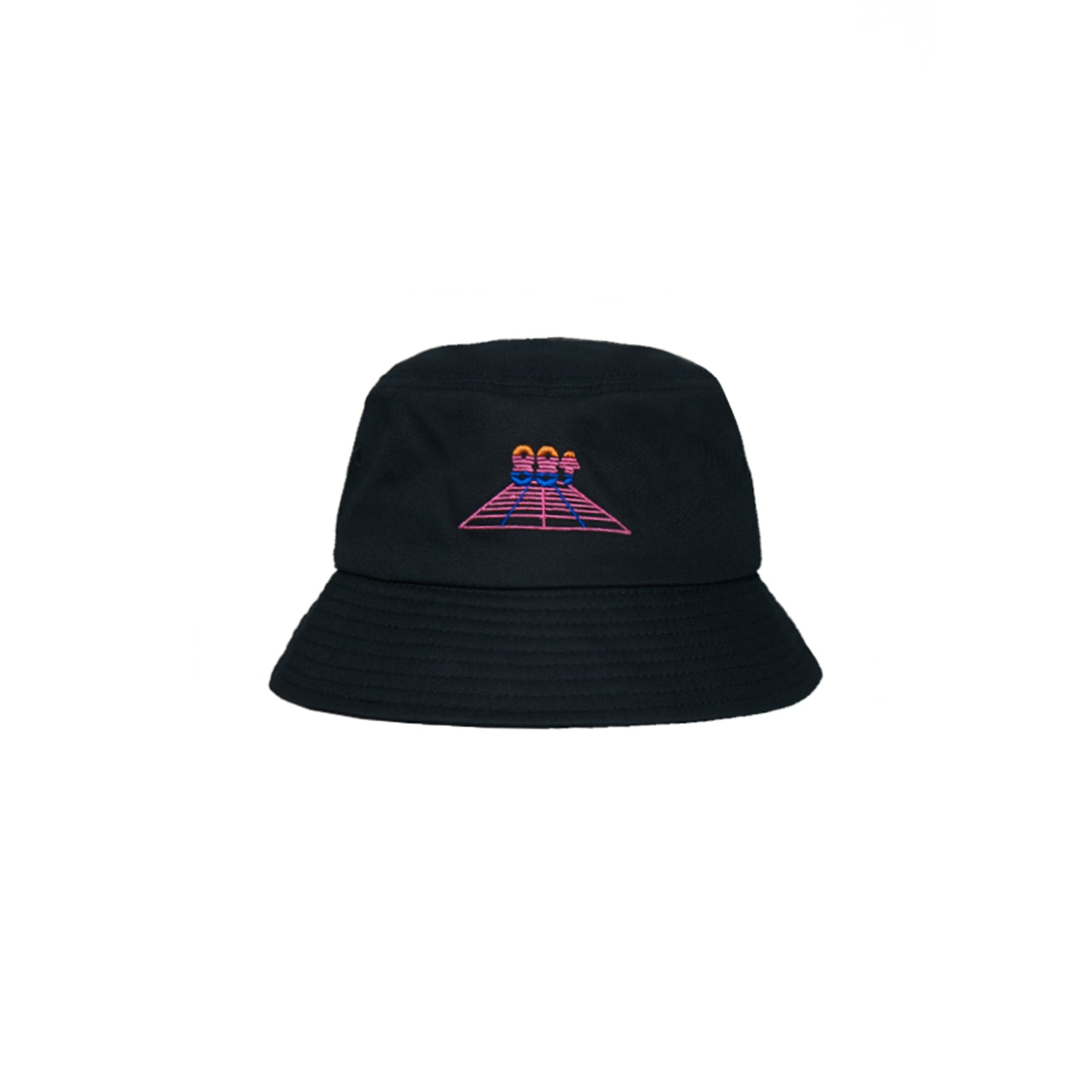 RETRO HEAT EMBROIDERED BUCKET HAT