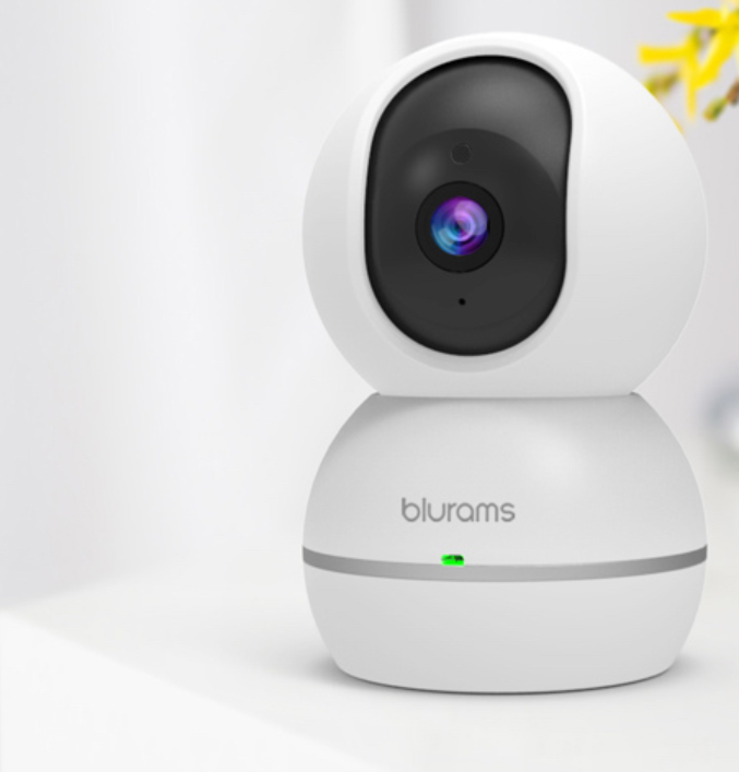 blurams 1080p Snowman Dome Security Camera Motion Sound Detection Smart AI Alert Two-Way Audio 360 Coverage Alexa