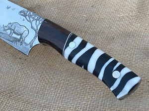 African Themed Custom Hand Made Chef Knife