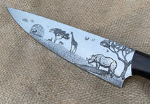 Load image into Gallery viewer, African Themed Custom Hand Made Chef Knife