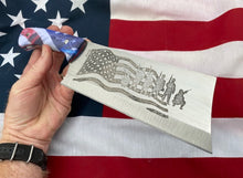Load image into Gallery viewer, American Flag Themed Custom Hand Made Cleaver Chef Knife