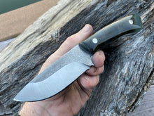 Load image into Gallery viewer, Custom Hand Made 7 3/4 inch Fixed Blade with cast Burl Handles