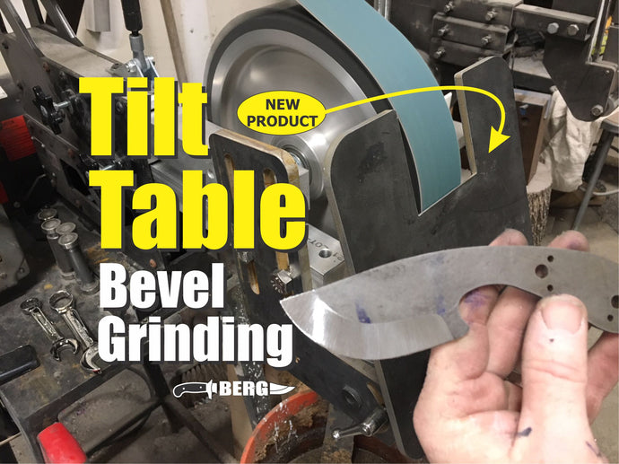 TILT TABLE PRO the Original and Ultimate Knife Bevel Grinding Jig with FREE BOOK and KNIFE BLANK