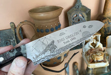 Load image into Gallery viewer, Shipwreck Oregon Themed Custom Hand Made Chef Knife