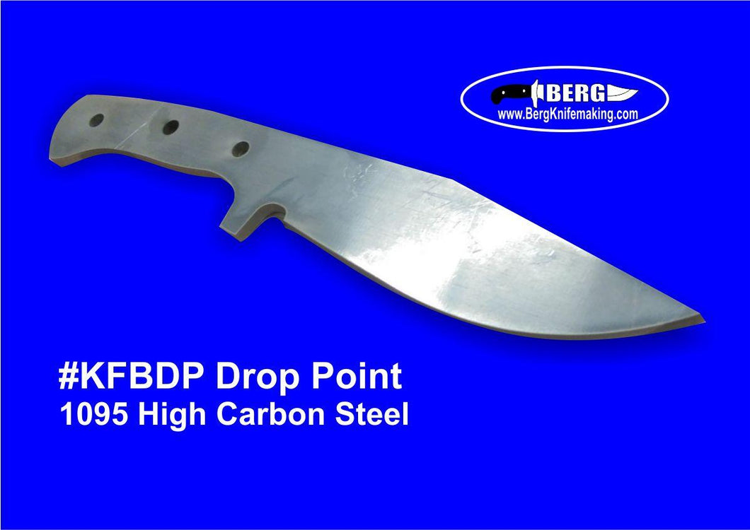 High Carbon Steel Drop Point Knife Blank