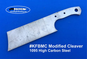 High Carbon Steel Modified Cleaver Knife Blank