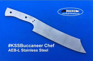 Stainless Steel Buccaneer Chef Knife Blank