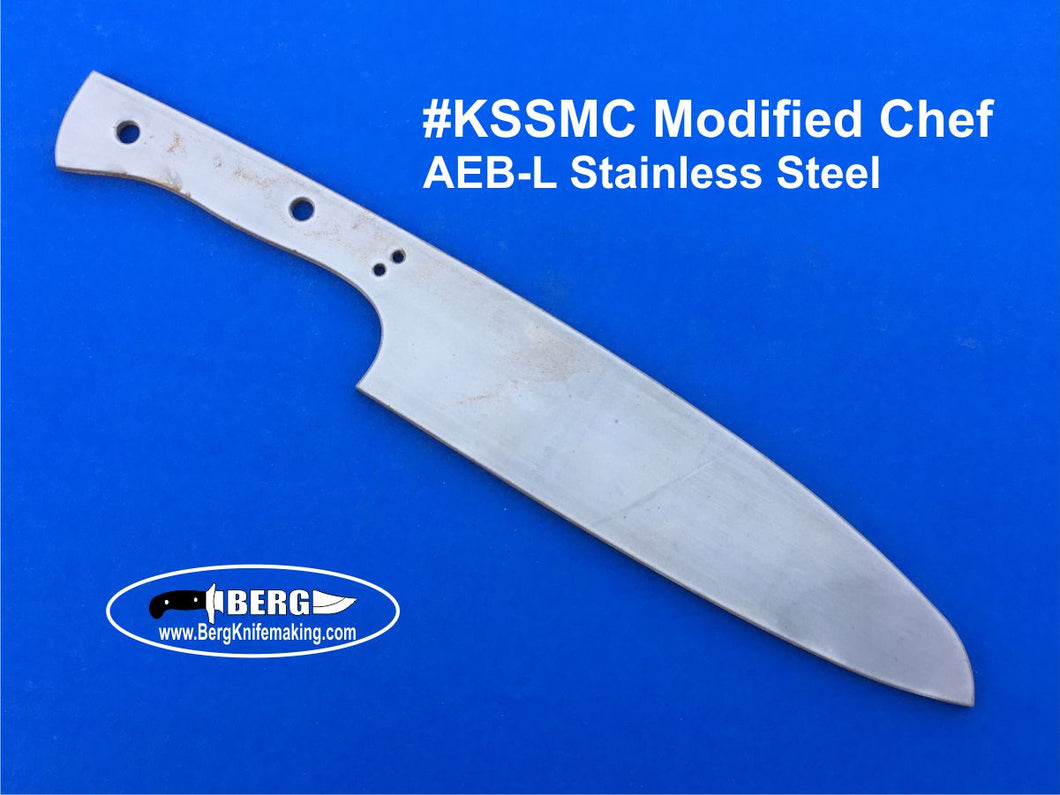 Stainless Steel Modified Chef Knife Blank