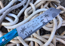 Load image into Gallery viewer, Life is Better on the Beach Buccaneer style Nautical Themed Chef Knife