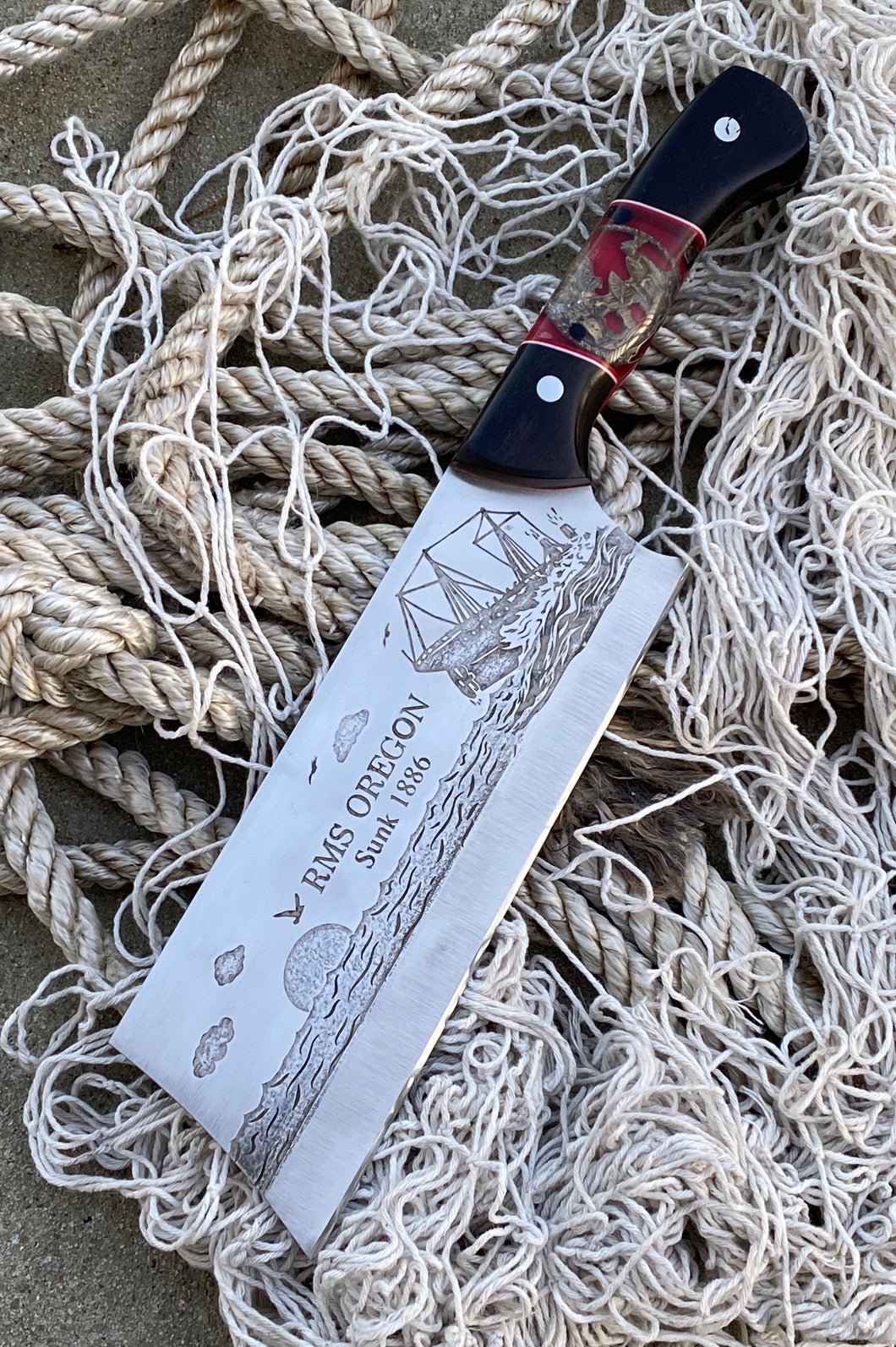 Shipwreck Oregon Themed Custom Hand Made Chef Knife