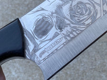 Load image into Gallery viewer, Skull Themed Modified Cleaver Chef Knife