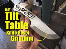 Load image into Gallery viewer, TILT TABLE PRO the Original and Ultimate Knife Bevel Grinding Jig with FREE BOOK and KNIFE BLANK