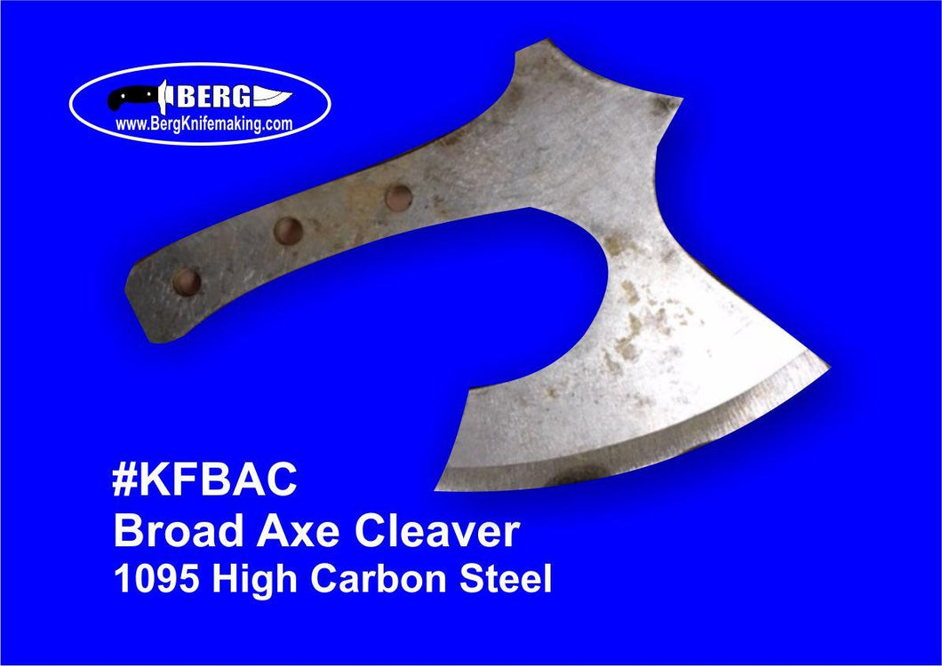 High Carbon Steel Broad Axe Cleaver Knife Blank