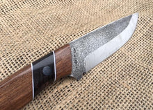 Load image into Gallery viewer, Custom Hand Made 9 inch Fixed Blade with segmented Handles
