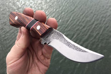 Load image into Gallery viewer, Custom Hand Made 7 inch Fixed Blade with segmented Handles