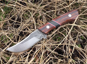 Custom Hand Made 7 inch Fixed Blade with segmented Handles