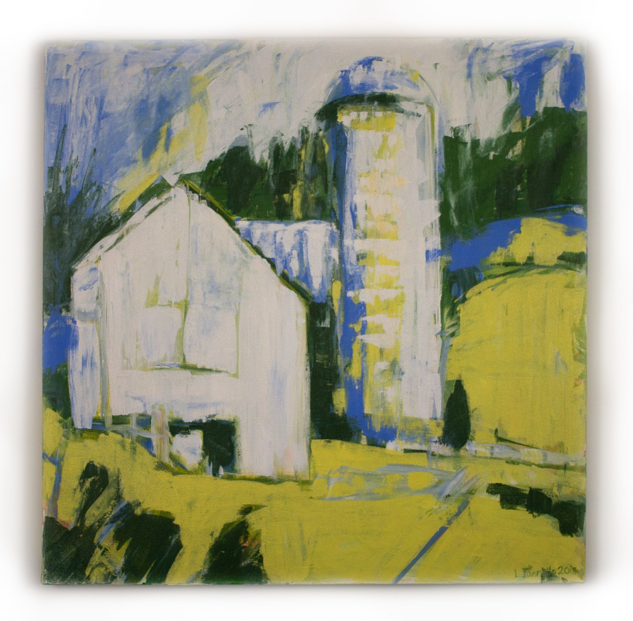 White Barn with Silo