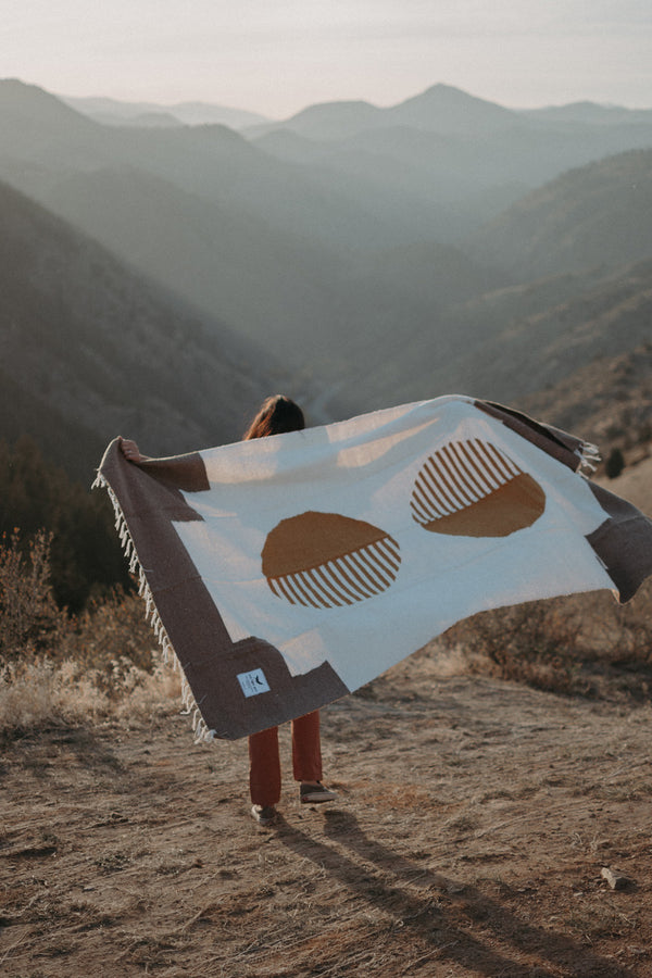 Adventure Blanket, Picnic Blanket, Yoga Blanket, Life Blanket, Horizon Blanket, Peace Blanket, Ethically Made