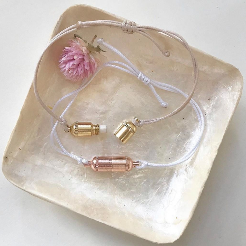 bracelet, bracelets, capsule bracelet, jewelry, meaningful jewelry, gold, rose gold, gold jewelry, rose gold jewlery, handmade, handmade jewelry, message, secret message, meaningful messages, positive affirmations, note to self