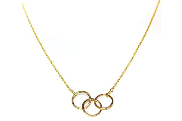 The Adorn Tripple BFF Necklace (Gold)