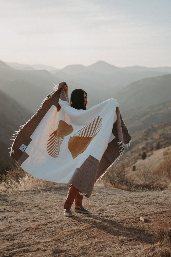 blanket, blankets, blanket bundle, horizon blanket, outdoor blanket, outdoor, yoga, beach, picnic, camping, made ethically, ethically made, ethical product, sustainable, sustainably made, indigenous artisans, artisans, tree, planting trees, tree planted, handmade, handmade products