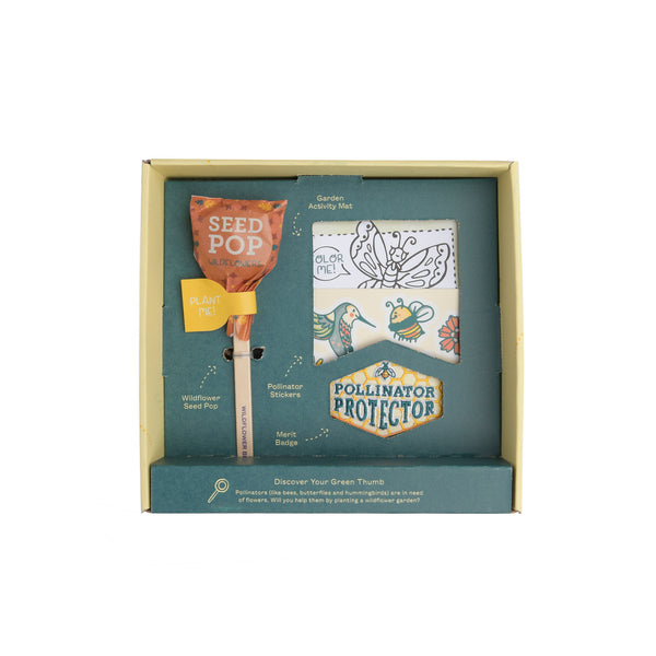 wildflower, wildflower garden kit, garden kit, seed pop, plants, planting, pollinators, bees, butterflies, hummingbirds