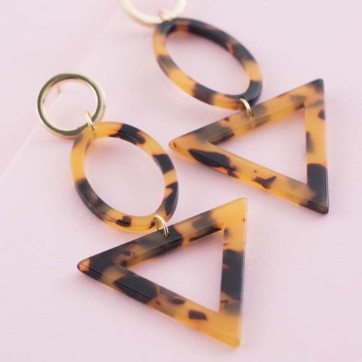 earring, trendy, acrylic, geometric, nickle free, lead free, circle, triangle