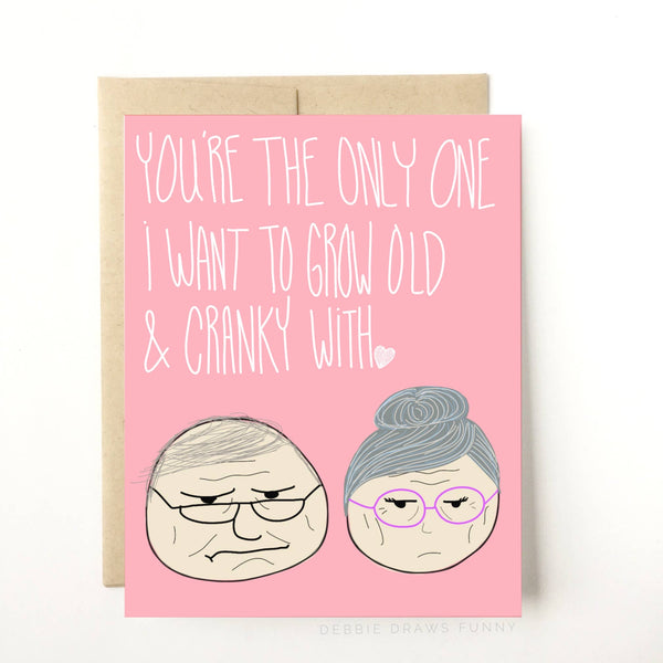 love, card, humor, husband, wife, valentine's day, old, glasses, pink