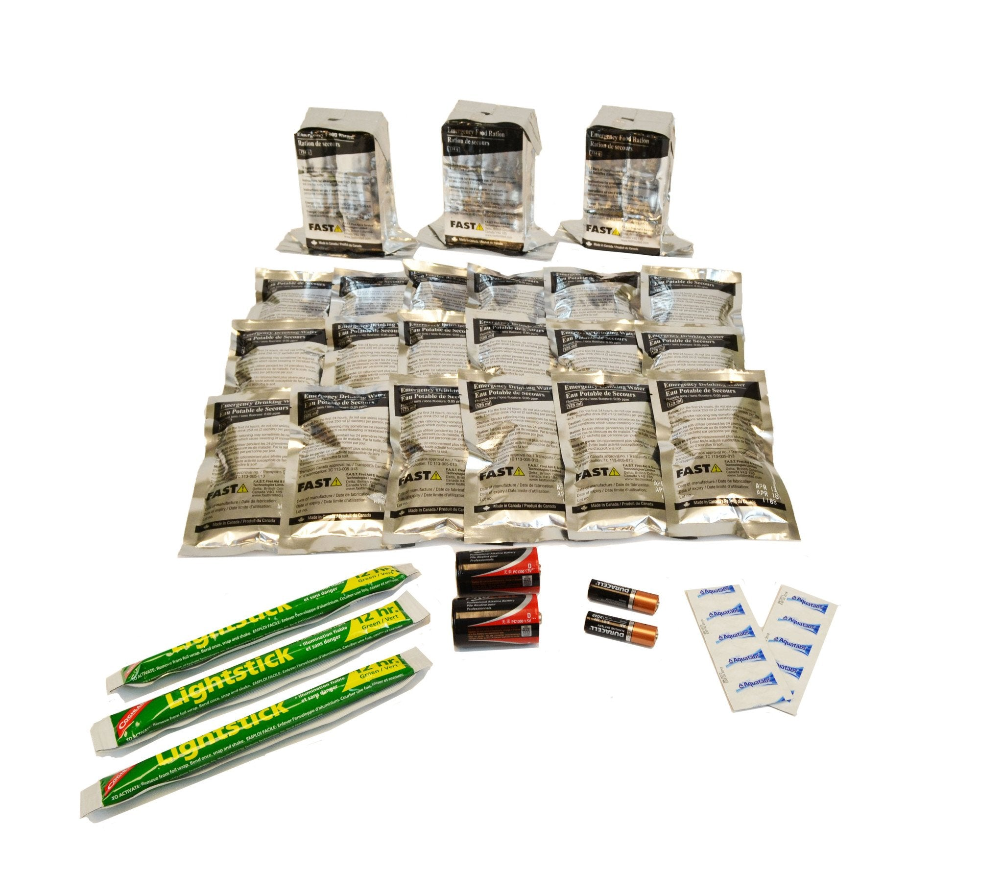 3 Person | 72 Hour Emergency Survival Replacement Supplies Kit | Emergency Preparedness