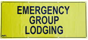 SIGN1011.1 - Group Lodging Sign + SIGN10 - Set of 9 Signs