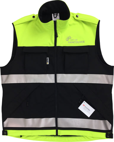 "VEST1920 - Vest, Deluxe ""Dintex"" with Fleece Back Softshell (SAR/ICS/Identification)"