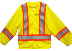 OVER2030.1 Mesh Jacket, CSA Z96-15 Class 2 Level 2, WorkSafeBC Type 1 (Lime Yellow)