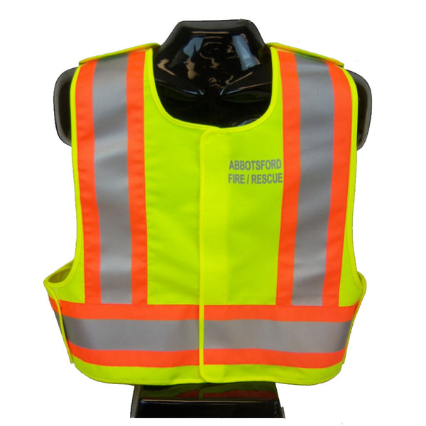 VEST1850.2 - High Visibility Traffic Safety Vest, CSA Z96-15 Class 2 Level 2, WorkSafeBC Type 1 (Lime Yellow)