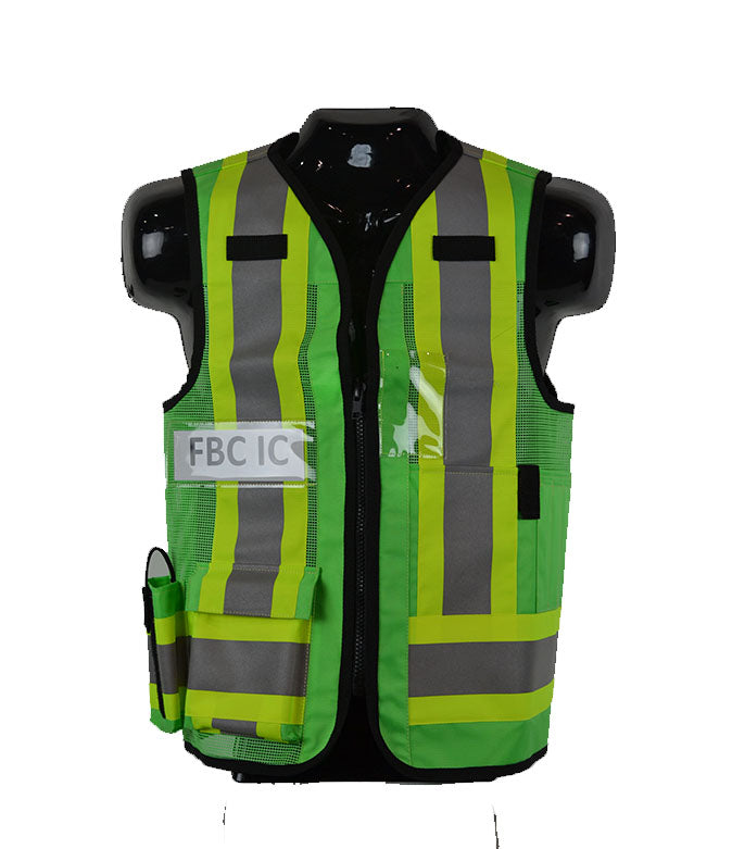 VEST1017.31 - Incident Commander/Unified Command Vest (Green) w/Reflective Strips