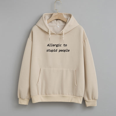 Allergic to Stupid Oversized Hoodie - DERNIER CRI