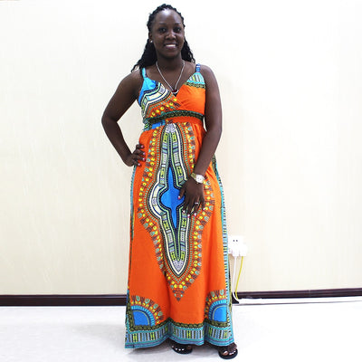 Dashiki Split Cami Dress - DERNIER CRI