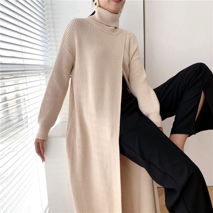 Loose Fit Turtleneck Long Sleeve Pullover - DERNIER CRI